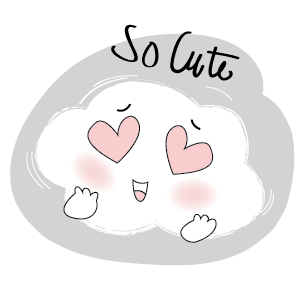 Lovely Cloud Stickers messages sticker-1