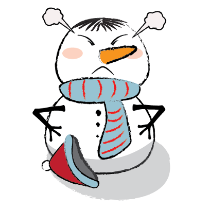 Cute & Lovely Snowman Stickers messages sticker-8