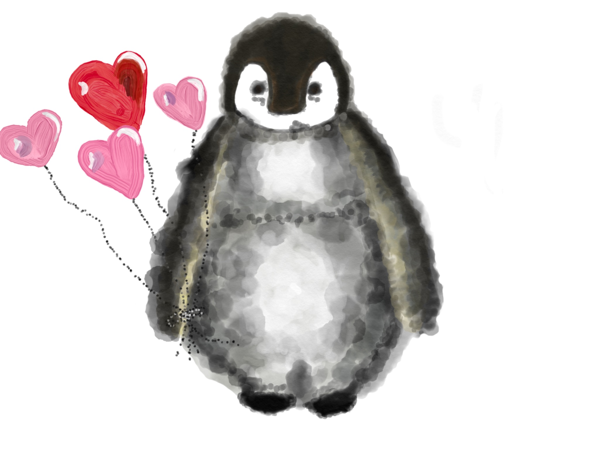 Love Penguin Stickers messages sticker-1
