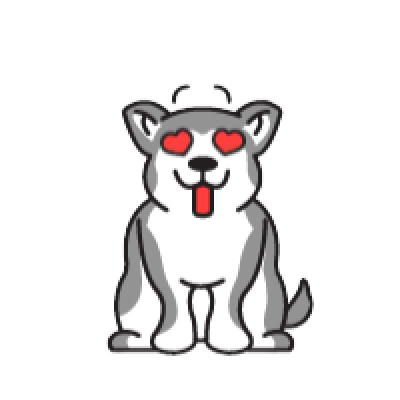 Animated Husky messages sticker-0