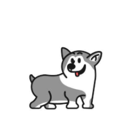 Animated Husky messages sticker-2