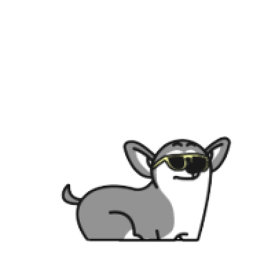 Animated Husky messages sticker-1