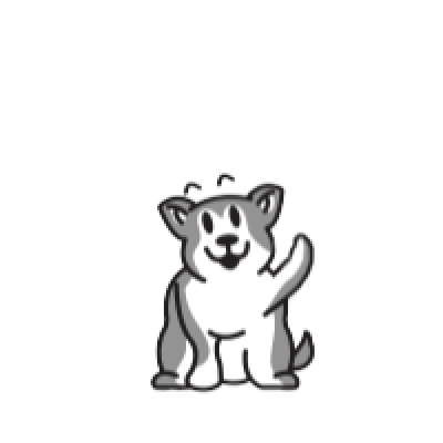 Animated Husky messages sticker-6