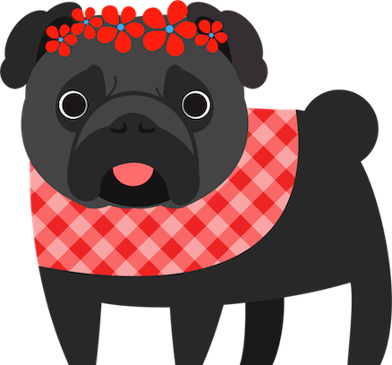 Pug Love Stickers messages sticker-6