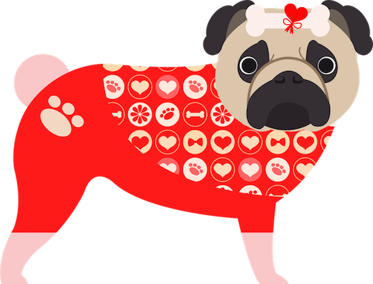 Pug Love Stickers messages sticker-9