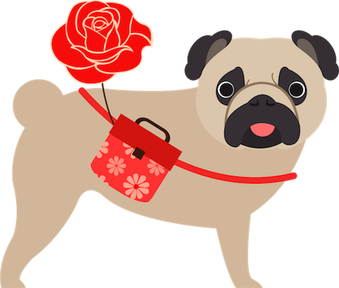 Pug Love Stickers messages sticker-0
