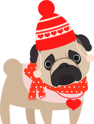 Pug Love Stickers messages sticker-4