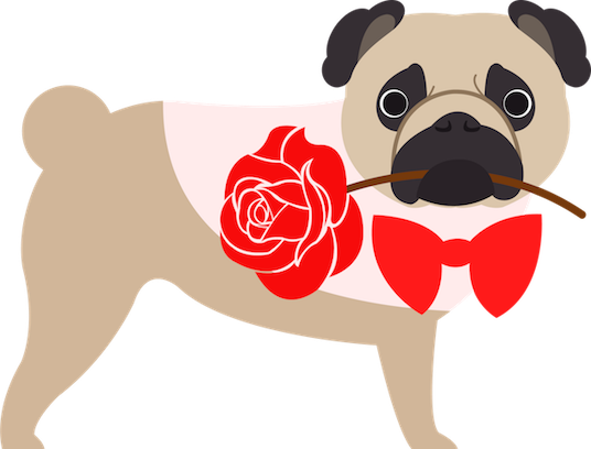 Pug Love Stickers messages sticker-7