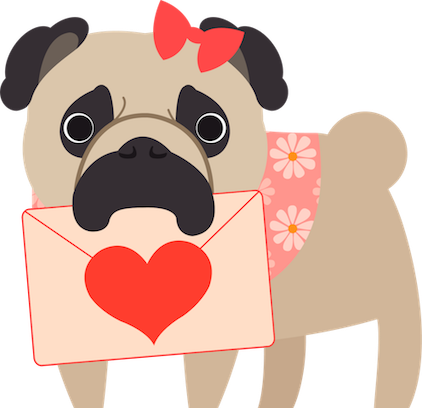 Pug Love Stickers messages sticker-2