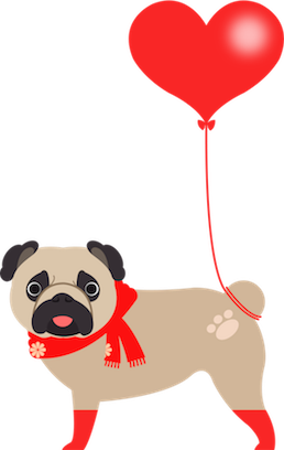 Pug Love Stickers messages sticker-8