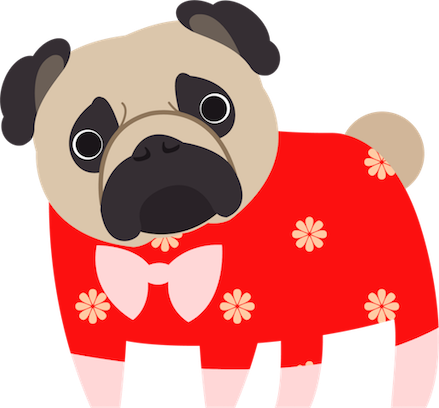 Pug Love Stickers messages sticker-11