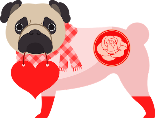 Pug Love Stickers messages sticker-1