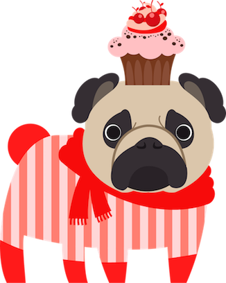 Pug Love Stickers messages sticker-10