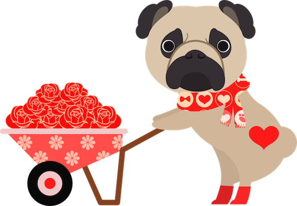 Pug Love Stickers messages sticker-3