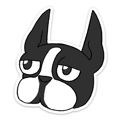 Boston Terrier Doodles messages sticker-5