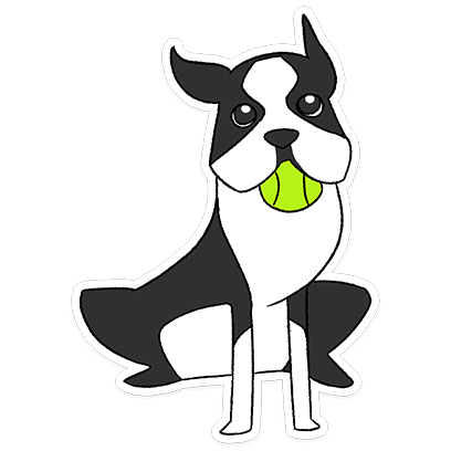 Boston Terrier Doodles messages sticker-1