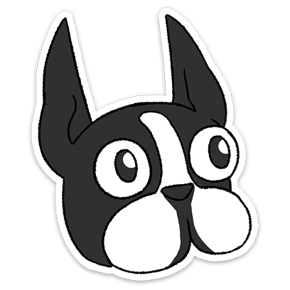 Boston Terrier Doodles messages sticker-4