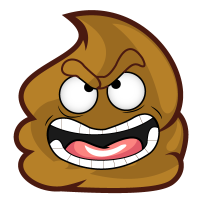Poopy Emoji messages sticker-11
