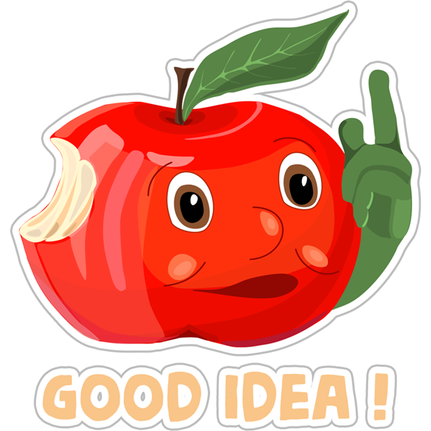 Funny Red Apple Stickers messages sticker-4