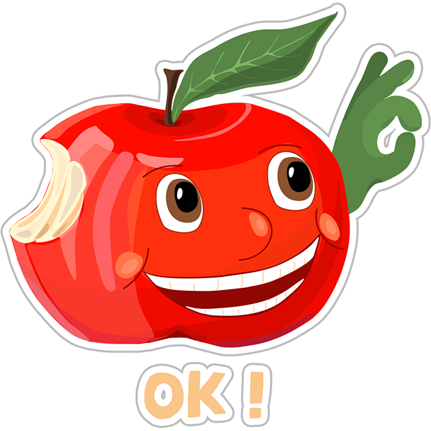 Funny Red Apple Stickers messages sticker-2