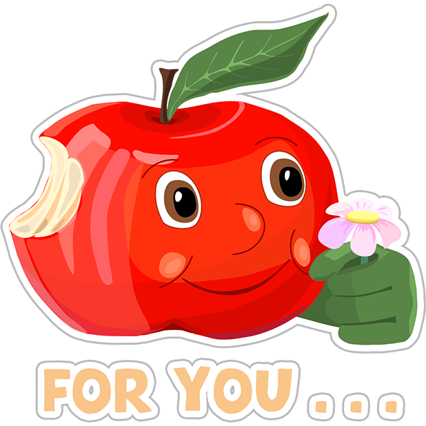 Funny Red Apple Stickers messages sticker-11