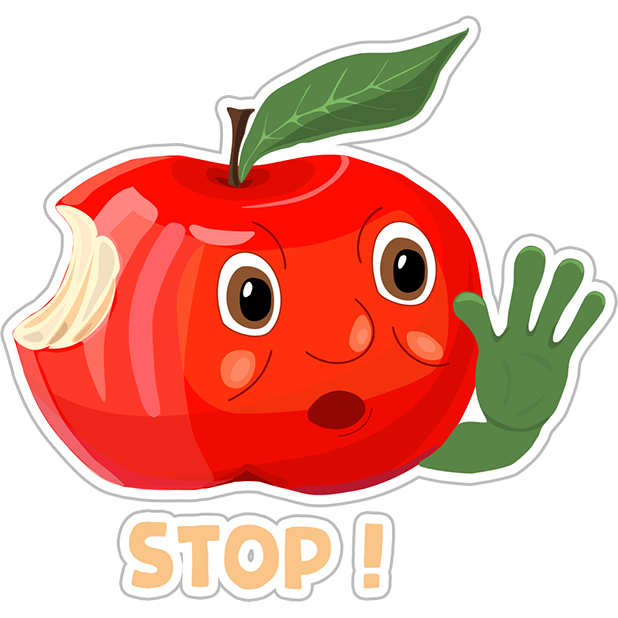 Funny Red Apple Stickers messages sticker-7