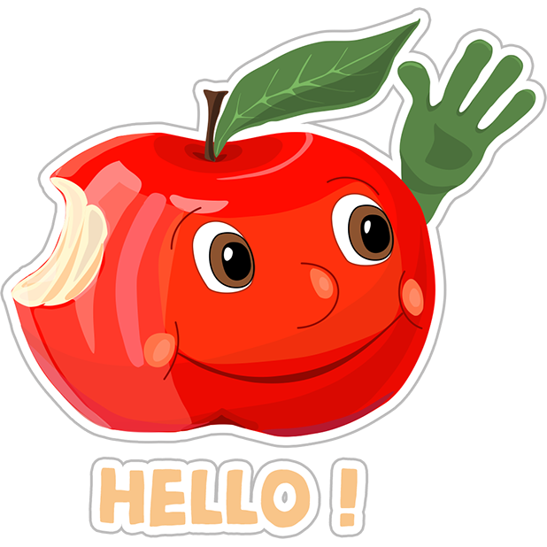 Funny Red Apple Stickers messages sticker-0