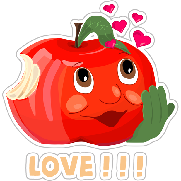 Funny Red Apple Stickers messages sticker-5