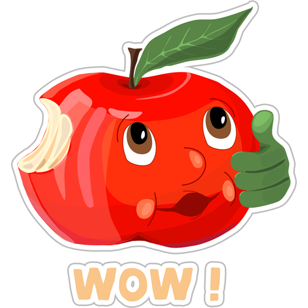 Funny Red Apple Stickers messages sticker-6