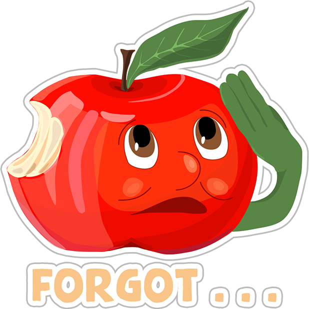 Funny Red Apple Stickers messages sticker-10