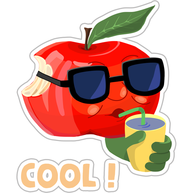 Funny Red Apple Stickers messages sticker-1