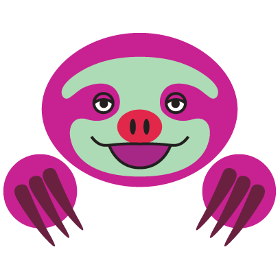 COLORFUL SLOTH FRIENDS messages sticker-0