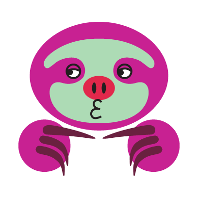 COLORFUL SLOTH FRIENDS messages sticker-3