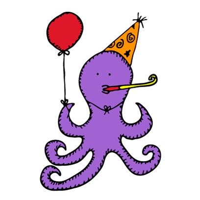 Happy Octopi Stickers messages sticker-9