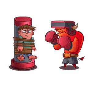 Idle Hell Clicker: Tycoon game messages sticker-0