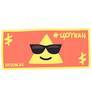 Up — Upgrade your banking messages sticker-5