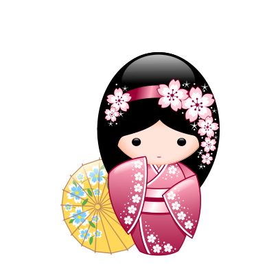 Japanese Kokeshi Dolls messages sticker-1