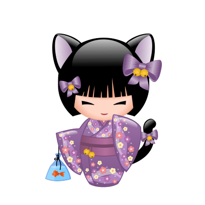 Japanese Kokeshi Dolls messages sticker-9
