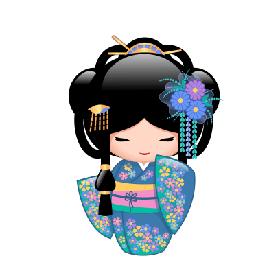 Japanese Kokeshi Dolls messages sticker-5