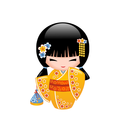 Japanese Kokeshi Dolls messages sticker-2