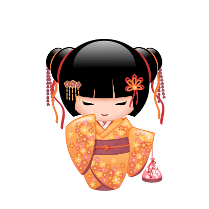 Japanese Kokeshi Dolls messages sticker-11