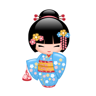 Japanese Kokeshi Dolls messages sticker-7