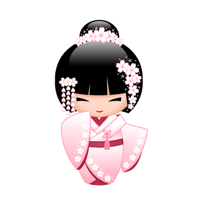 Japanese Kokeshi Dolls messages sticker-4