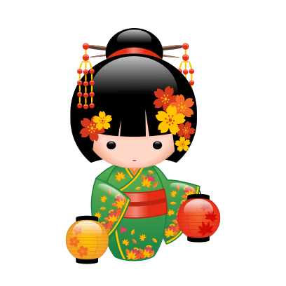 Japanese Kokeshi Dolls messages sticker-3
