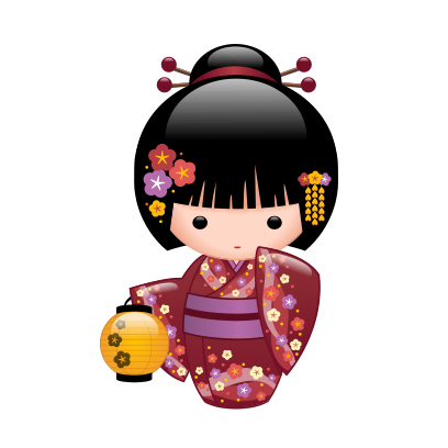 Japanese Kokeshi Dolls messages sticker-10