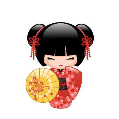 Japanese Kokeshi Dolls messages sticker-8
