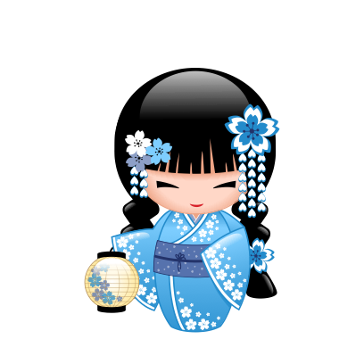 Japanese Kokeshi Dolls messages sticker-0