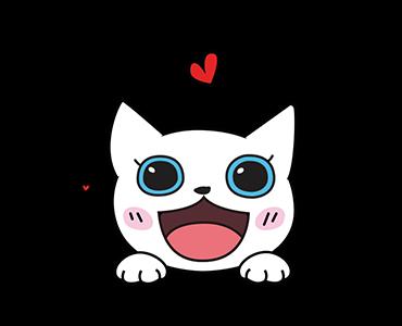 Little Kitten Animated Emoji messages sticker-1