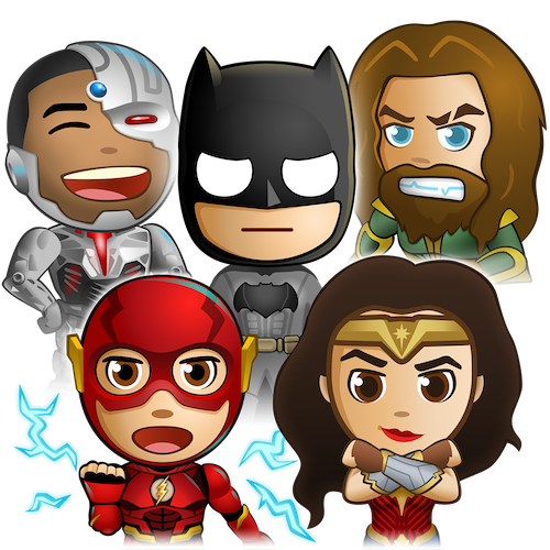 Justice League Sticker Pack messages sticker-11