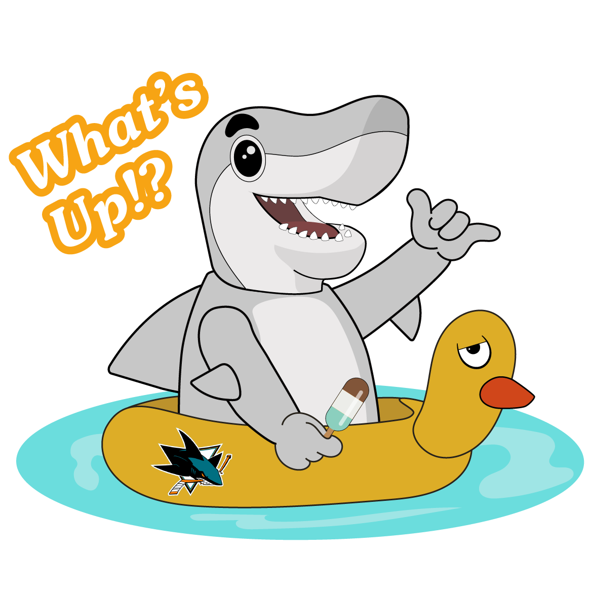 S.J. Sharkie Sticker Pack messages sticker-10